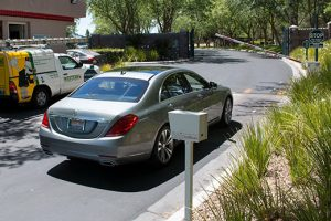 BA-440 DualBeam Barcode Reader identifying a luxury vehicle at a gated community in Las Vegas, Nevada